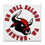 No Bull Saloon 2 Tile Coaster