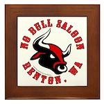 No Bull Saloon 2 Framed Tile