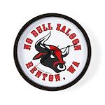 No Bull Saloon 2 Wall Clock