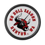 No Bull Saloon 2 Large Wall Clock