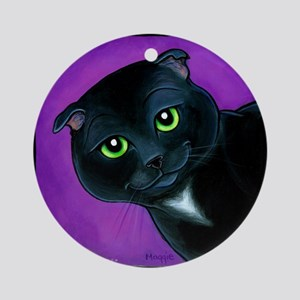 "Scottish Fold ""Maverick"" Ornament (Round)"