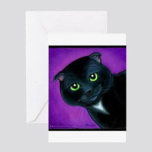 "Scottish Fold ""Maverick"" Greeting Card"