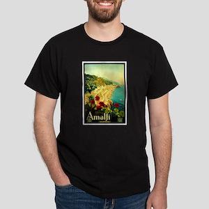 Vintage Amalfi Italy Travel Dark T-Shirt
