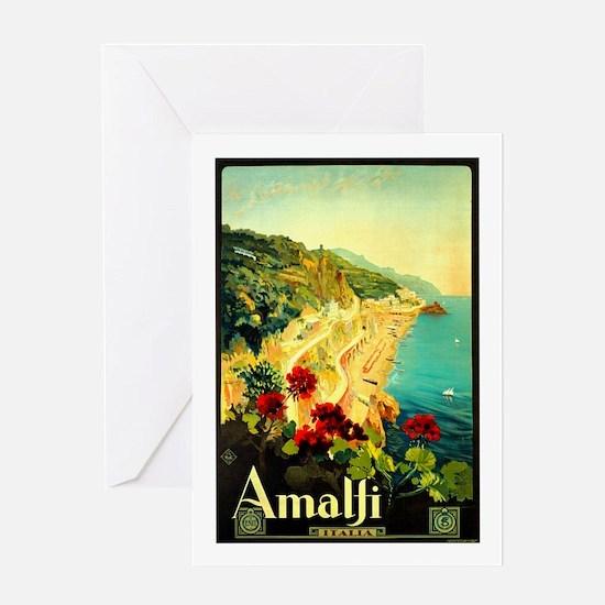 Vintage Amalfi Italy Travel Greeting Card