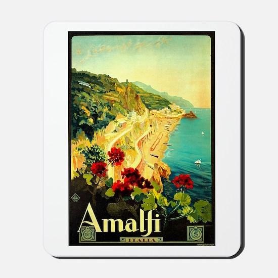 Vintage Amalfi Italy Travel Mousepad