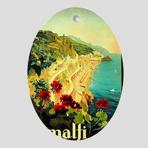 Vintage Amalfi Italy Travel Ornament (Oval)