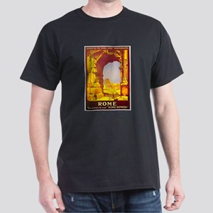 Vintage Rome Express Train Deluxe Dark T-Shirt