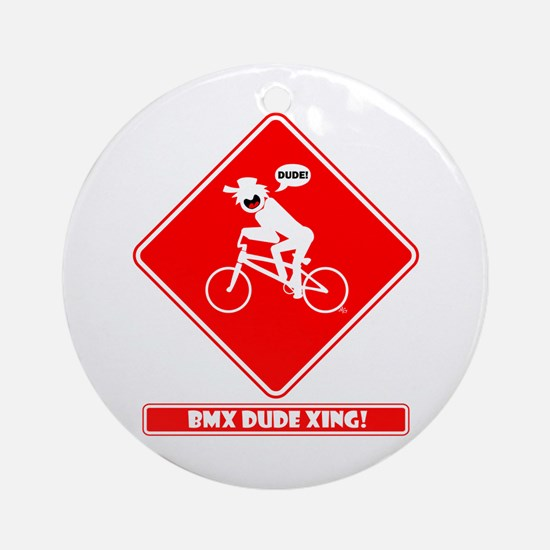 BMX DUDE XING Magnets, Sticke Ornament (Round)