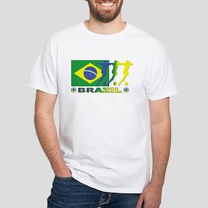 Brazil Soccer Urban White T-Shirt