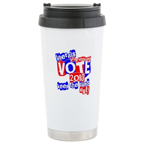 Vote 2010 Stainless Steel Travel Mug