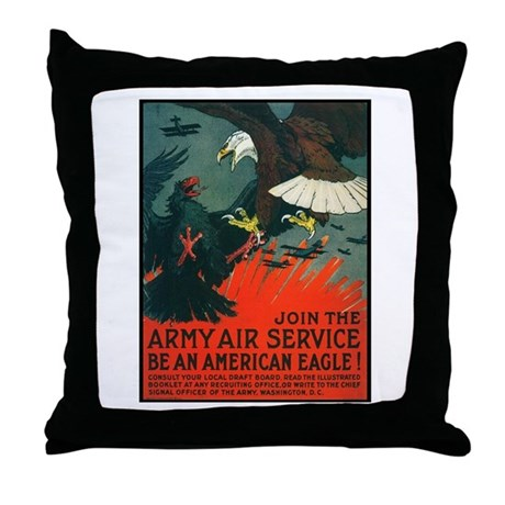 Army Air Service American Eagle Throw Pillow