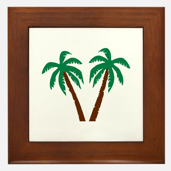 Palm trees Framed Tile