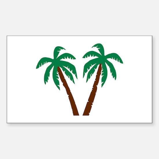 Palm trees Sticker (Rectangle)