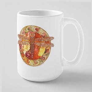 Hot Celtic Dragonfly Large Mug