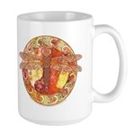 Hot Celtic Dragonfly Large Mug