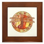Hot Celtic Dragonfly Framed Tile