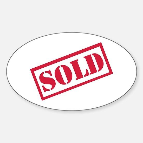 Sold Sticker (Oval)
