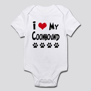 I Love My Coonhound Infant Bodysuit