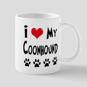 I Love My Coonhound Mug
