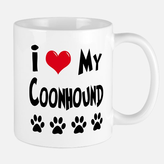I Love My Coonhound Mug