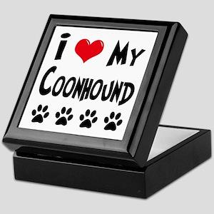 I Love My Coonhound Keepsake Box