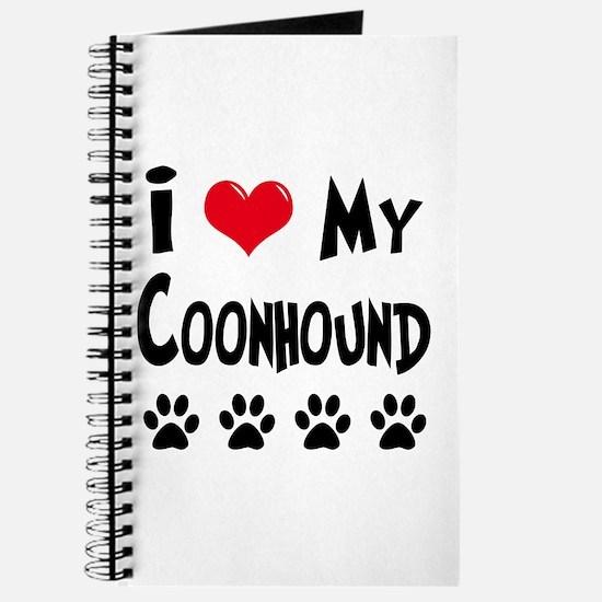 I Love My Coonhound Journal