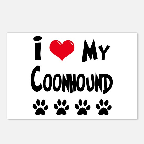 I Love My Coonhound Postcards (Package of 8)