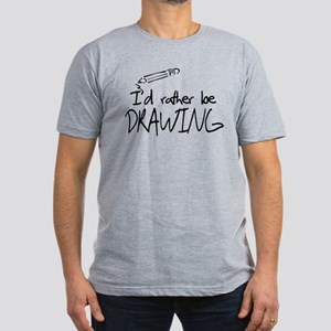 I'd Rather Be Drawing Men's Fitted T-Shirt (dark)