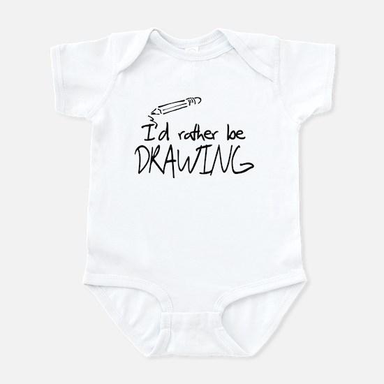 I'd Rather Be Drawing Infant Bodysuit