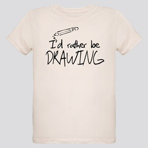I'd Rather Be Drawing Organic Kids T-Shirt