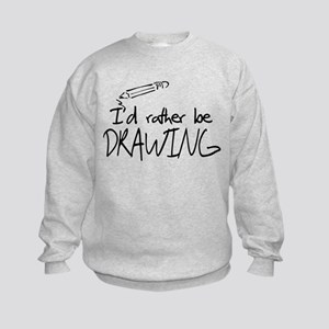I'd Rather Be Drawing Kids Sweatshirt