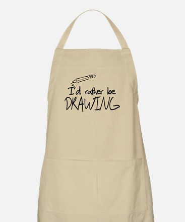 I'd Rather Be Drawing Apron