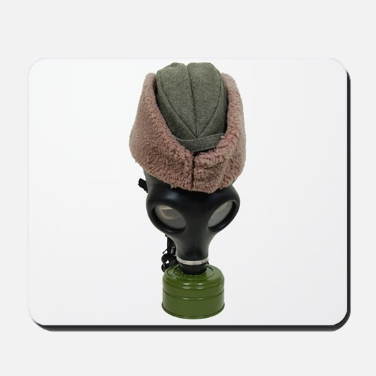 Gas Mask and Hat Mousepad