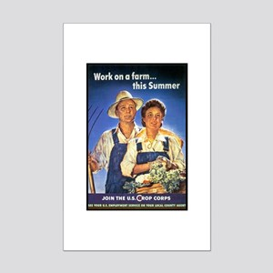 Work on the Farm Mini Poster Print