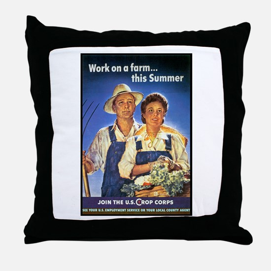 Work on the Farm Throw Pillow