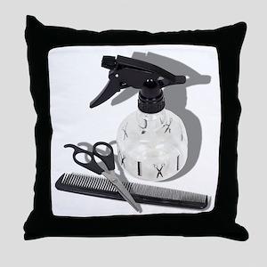 Hairdresser Items Throw Pillow