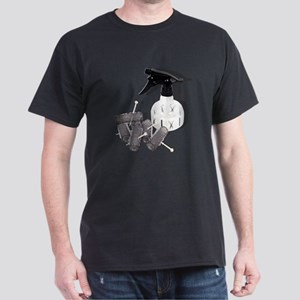 Hair Rollers and Spray Bottle Dark T-Shirt
