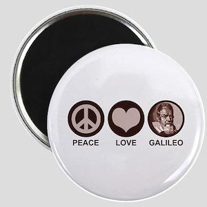 Peace Love Galileo Magnet