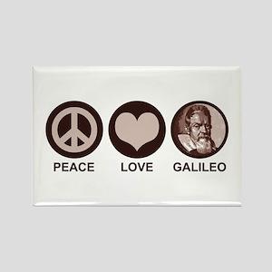 Peace Love Galileo Rectangle Magnet