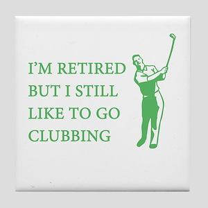 Golf Clubbing Tile Coaster