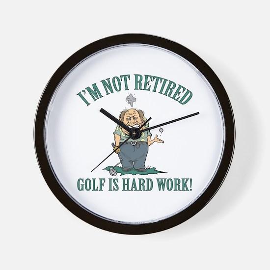 Golf Is Hard Work Wall Clock