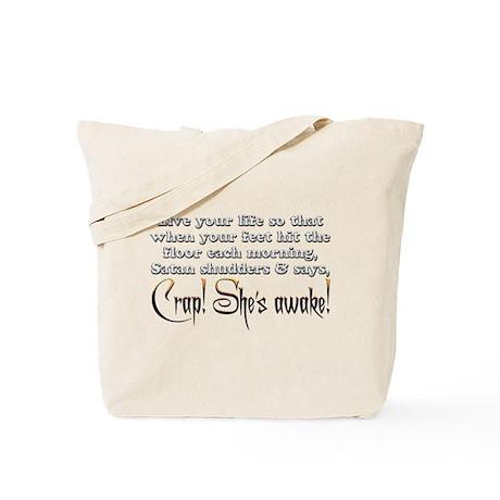 Satan Shudders Tote Bag