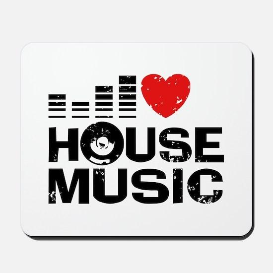 I Love House Music Mousepad