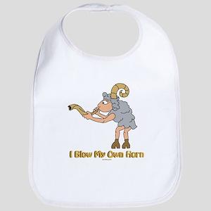 Blow Own Horn Funny Jewish Bib