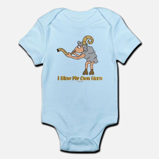 Blow Own Horn Funny Jewish Infant Bodysuit