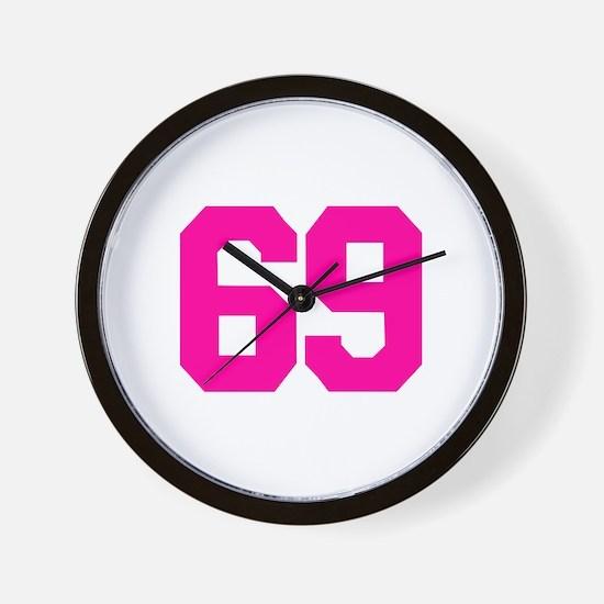 69 - sixty-nine Wall Clock