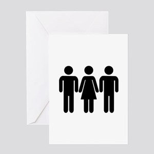 Threesome Greeting Card