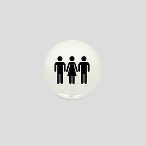 Threesome Mini Button