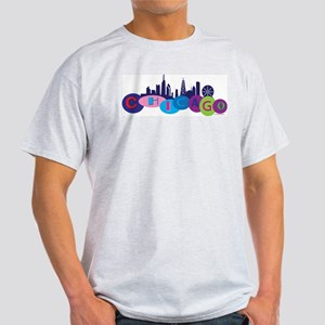 Chicago Circles And Skyline Light T-Shirt