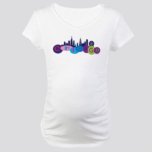 Chicago Circles And Skyline Maternity T-Shirt
